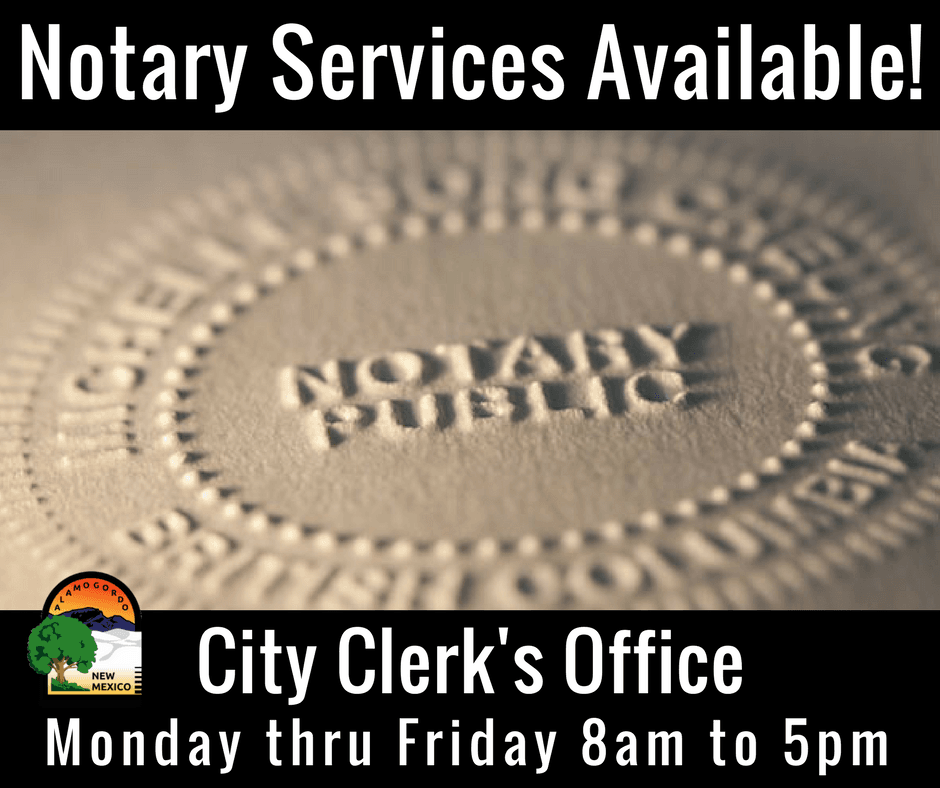 Notary Public Available!