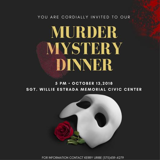 Phantom Murder Mystery Save the Date graphic