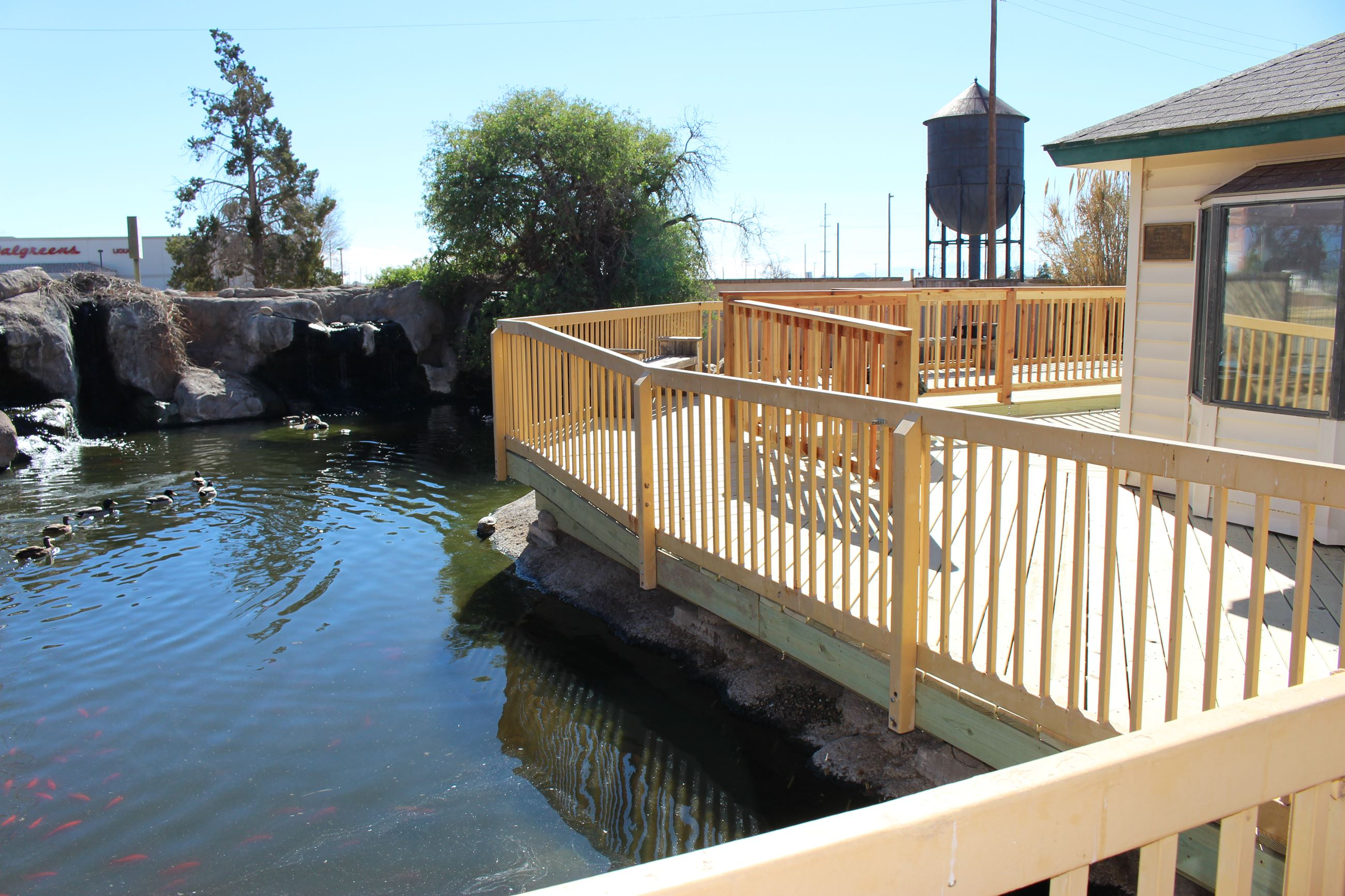 New Deck around Fowl Pond