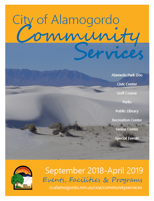 City of Alamogordo Community Services booklet cover