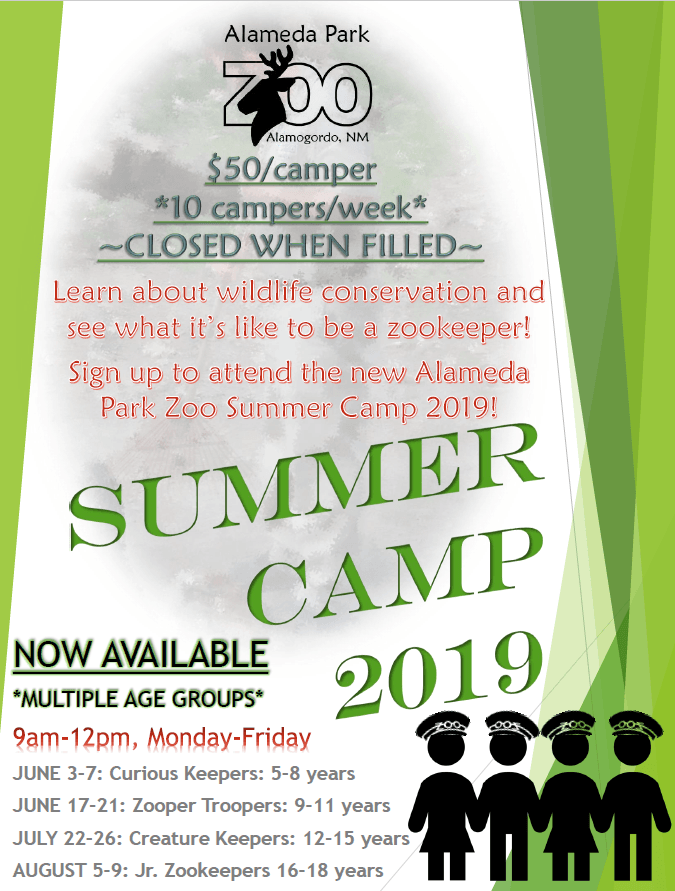 Jr. Zoo Keeper Flier 2019
