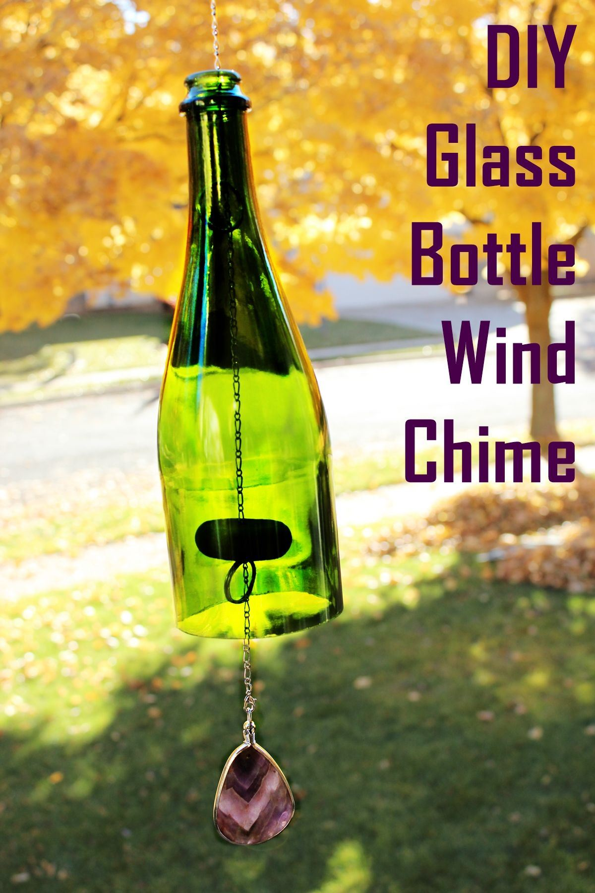 Recycled Glass Bottle Wind Chime